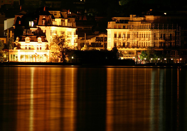 Reflection of the Grand Hotel - on the Zeller See