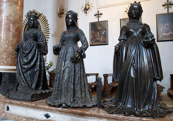 Bronze statues looking upon Maximilian's cenotaph (empty tomb) - Hofkirche (Court Church) - Innsbruck