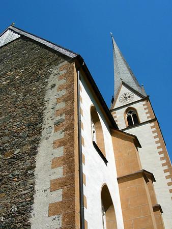 Steeple of the Saint Vinzenz Church - village of Hiligenblut