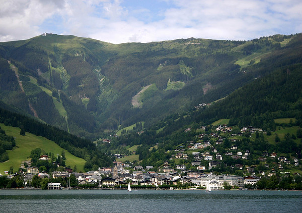 Zell am See and Schmittenhohe (mountain) - from Thumersbach