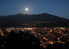 Moon over the Alps - and the city of Innsbruck