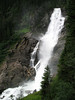 Kimmler Waterfalls - flowing down the limestone cliffs of the Eastern Alps - Hohe Tauern National Park