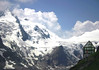 Wilhelm Swarovski Observatory - across to the Kline Burgstall, at the edge of the Pasterez Glacier, along the lower northeastern slope of the Grossglockner - Hohe tauern National Park