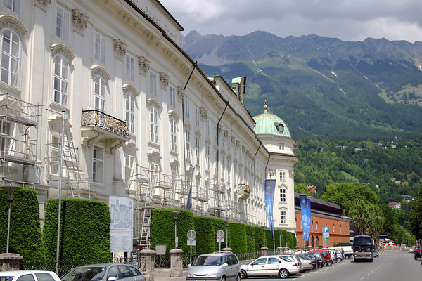 Hofburg - Imperial Palace - up to the Nordkette Range - Innsbruck