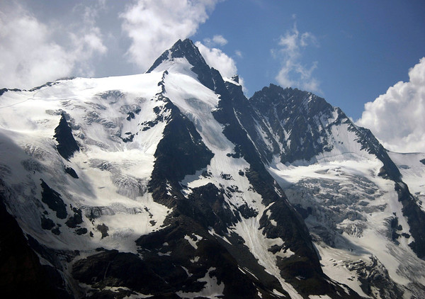 Glacial ice, firn, neve, and snow - in the eastern limestone bowls of Grossglockner - Hohe Tauern National Park