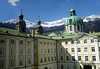 Hofburg Imperial Palace - to the steeples and dome of the Jesuit Church - and the snow-capped Alps beyond - Innsbruck