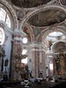 St. Jacobs Cathedral - Dom St. Jakob - ceiling murals (frescos) in the nave, along with the pulpit - to the high altar - Innsbruck