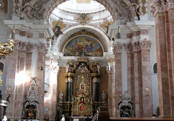 St. Jacobs Cathedral - High Altar - Barocco style marble - built from 1711-1724 - Innsbruck