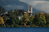 Early fall season morning light across Zeller See to the St. Hippolyte Pfarrkirche (parish church) in Zell am See.