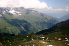From Edelweiss-Spitze - to the cloud covered Hoher Tenn Mountain (Hohe Tauern mountain range) - in the Eastern Alps (Central Eastern, section) - down to the Fuscher Valley and Zeller See - Hohe Tauern National Park