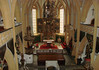 Saint Vinzenz Church - beyond the pulpit and pews to the high altar