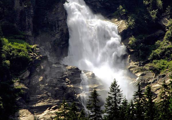 Lower cascade of the Krimmler Waterfalls - Hohe Tauern National Park
