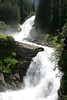 Krimmler Waterfalls - flowing over the limestone and through the forest - Hohe Tauern National Park