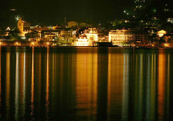 Reflection of Zell am See - upon the Zeller See - from Thumersbach