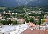 North view across Innsbruck - towards the lower slopes of the Nordkette Range