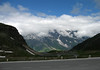 Großglockner-Hochalpenstraße (Grossglockner High Alpine Road) - the alpine road built between 1930-1935 - across to the Großes Wiesbachhorn, smothered in the stratus clouds - Hohe Tauern National Park