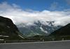 Großglockner-Hochalpenstraße (Grossglockner High Alpine Road) - the alpine road built between 1930-1935 - across to the Großes Wiesbachhorn, smothered in the stratus clouds - Hohe Tauern National Park
