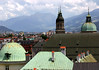 Hofburg (Imperal Palace) dome - Jusuit Church steples and dome - Innsbruck