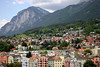 West view from the Staddturm (City Tower) - across Innsbruck - to Hechenberg Peak