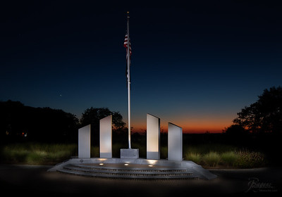 Sunset at the Memorial