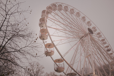 Misty Ferris Wheel Ride - Oslo, Norway