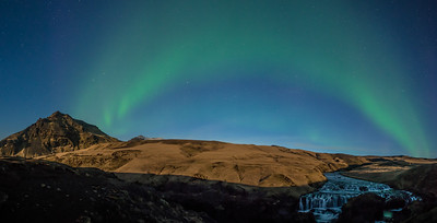 Aurora. Full Moon. Iceland.