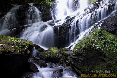 Fendao waterfall in Intervales State Park, Brazil. South-east atlantic forest reserve, UNESCO World Heritage Site.