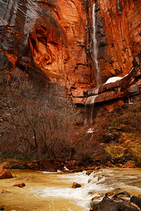 Canyon Wall & Waterfall
