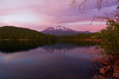 Sunset at Mount Shasta