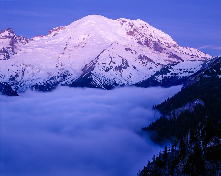 Morning Twilight Above the Clouds