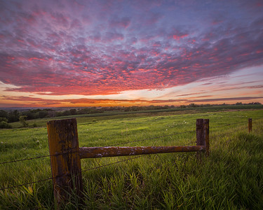 Classy Country Fence Sunset