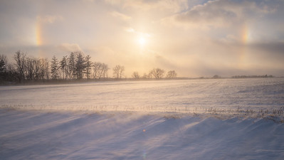 Sun Dogs & Blowing Snow