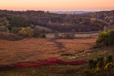 Morning Valley Overlook In Loess Hills