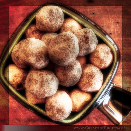 Chocolate Truffles - Iphoneography by www.GreatArtPhotos.com - just for fun