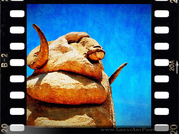 The Big Ram - Iphoneography by www.GreatArtPhotos.com - just for fun