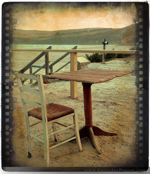 Table by the Sea - Iphoneography by www.GreatArtPhotos.com - just for fun