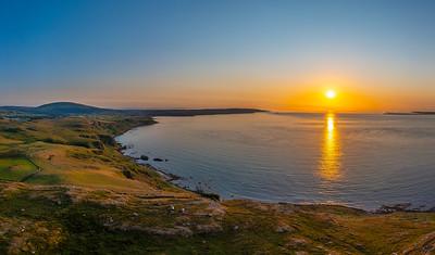 fair head sunset