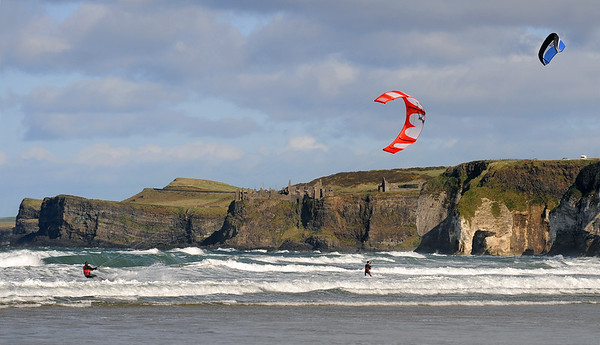 Kite surfers North Antrim Coast