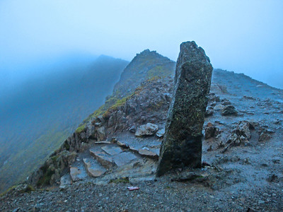 Finally, the summit ridge appeared out of the murk.