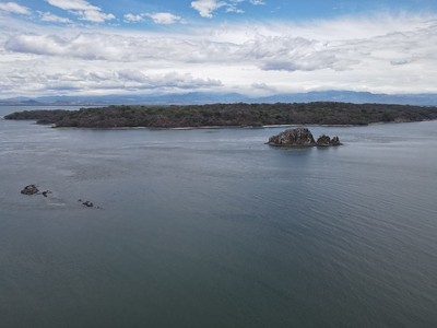 Aerial View of Isla San Lucas in the Golfo de Nicoya, Costa Rica