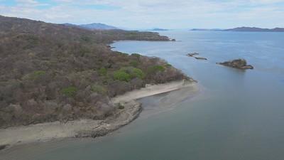 Aerial View of Isla San Lucas and Playa Blanco in the Golfo de Nicoya, Costa Rica
