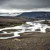 Ciel menaçant et fonte des glaciers