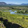 Le rift de Thingvellir (Þingvellir). Tout ce que nous voyons, ne sont que les stigmates du mouvement de l'écorce terrestre: de larges fissures qui courent tout le long du paysage.