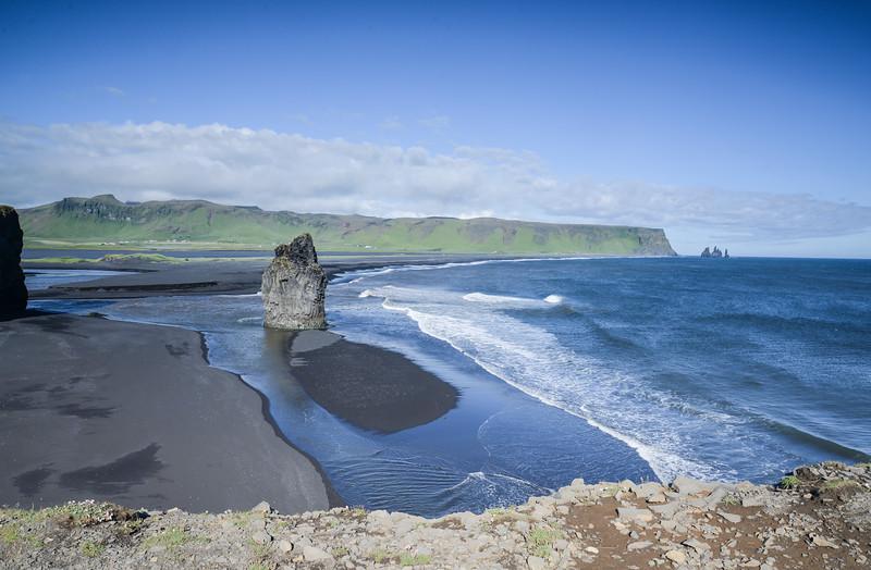 Plage de sable noir<br /> Reynishverfi,Islande