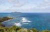 Scenic view of aquamarine Caribbean sea in St. Croix