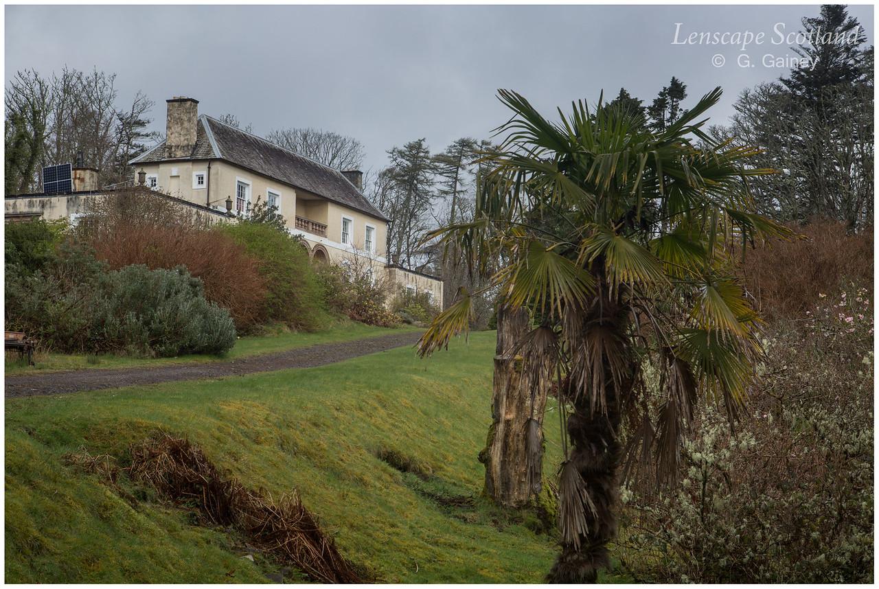 Eigg Lodge and gardens