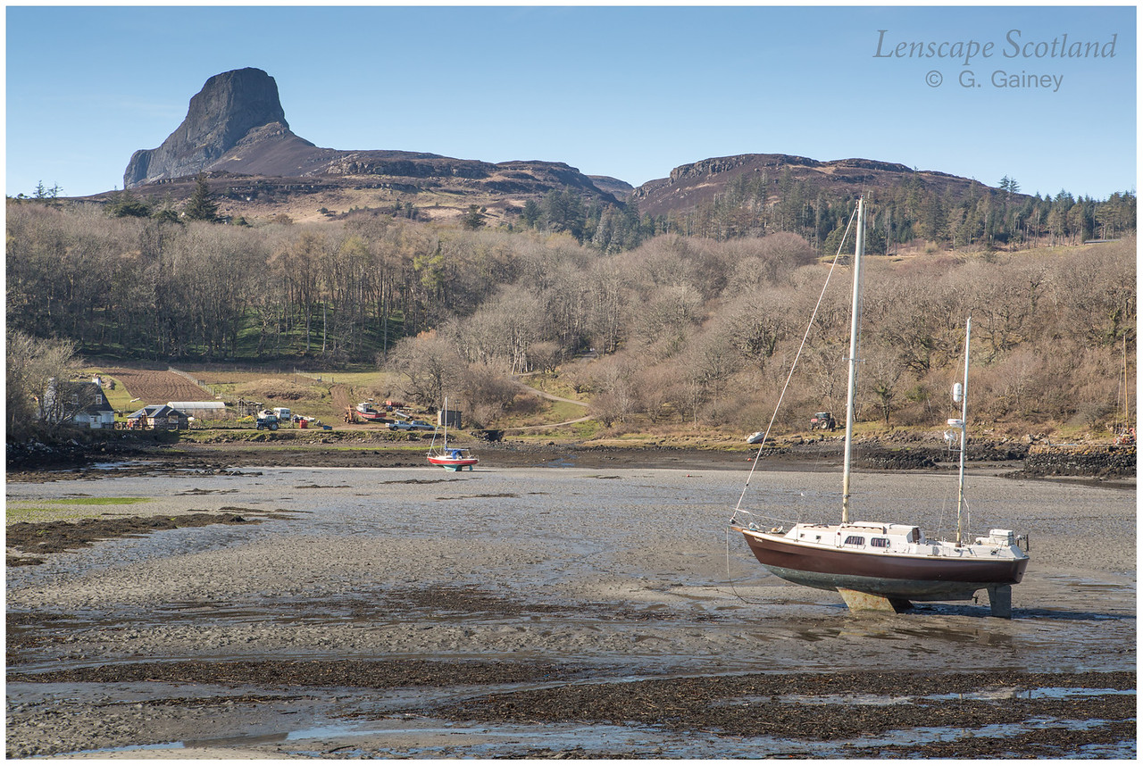 Eigg harbour and An Sgurr