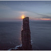 Old Man of Hoy at night, with setting moon (2)