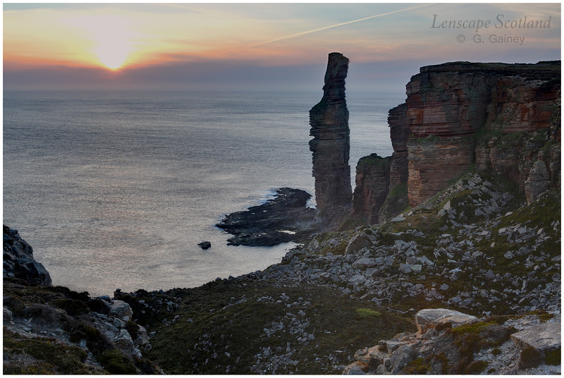 Old Man of Hoy, sunset