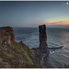 Old Man of Hoy at dusk, with moon